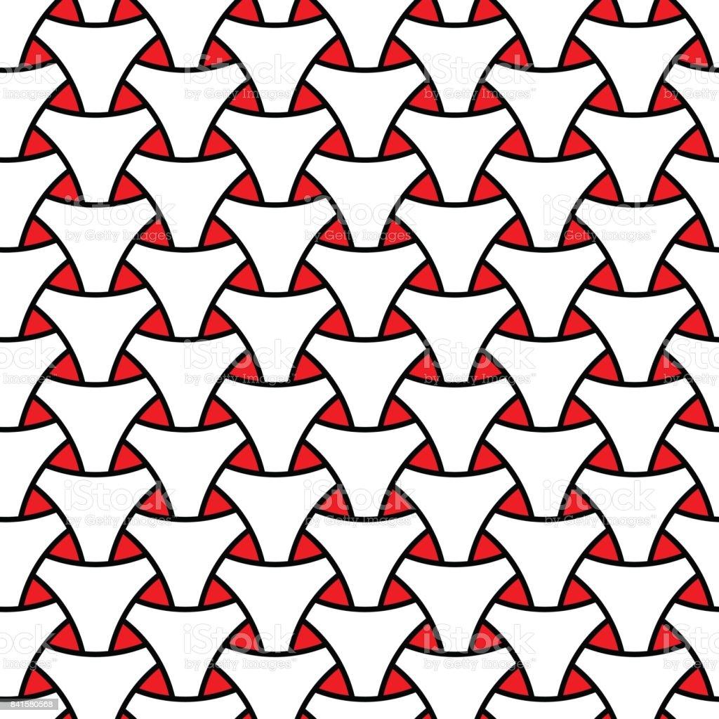 Ilustración de Tejido En Telar Triángulo Escama Superficial De ...
