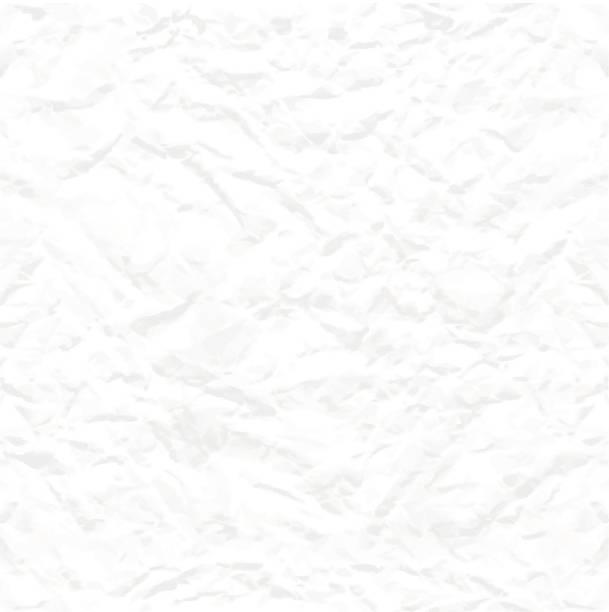 ilustraciones, imágenes clip art, dibujos animados e iconos de stock de blanco textura perfecta de papel arrugado - fondos arrugados