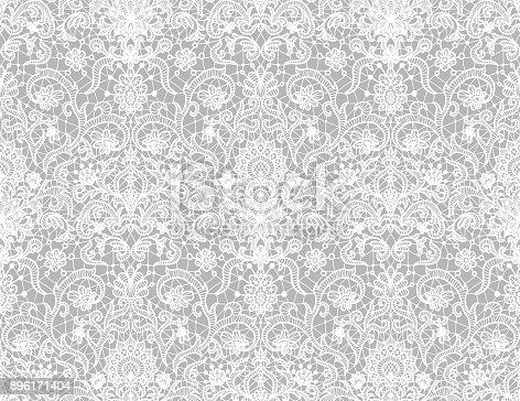 Black lacy vintage elegant trim seamless lace Vector Image   364x472