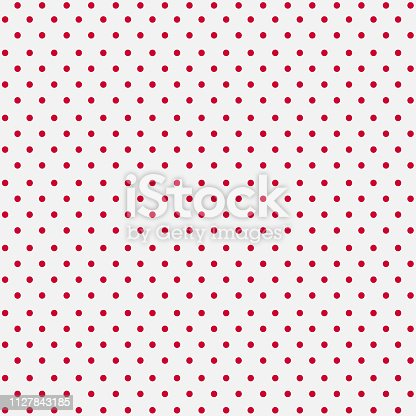 istock Seamless White Paper with Pink Dots 1127843185