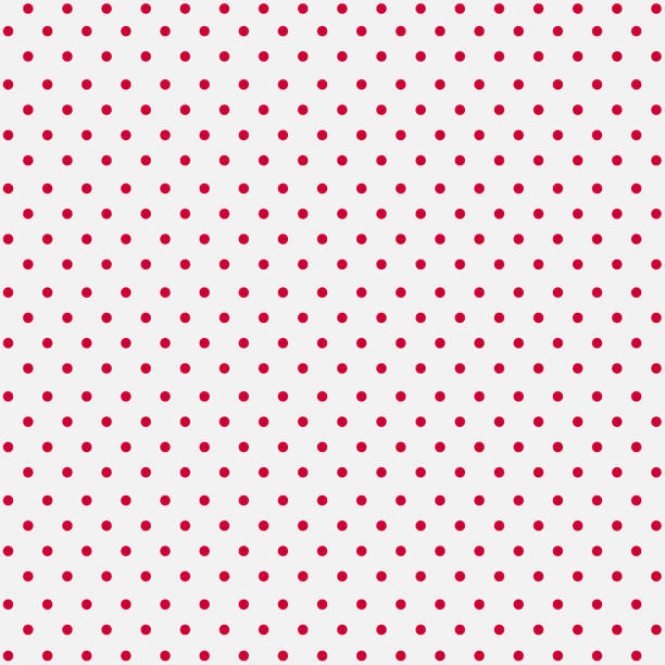 Seamless White Paper with Pink Dots Seamless White Paper with Pink Dots polka dot stock illustrations