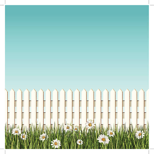 Royalty Free White Picket Fence Clip Art, Vector Images ...