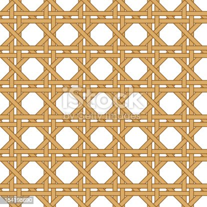 seamless straw, wicker woven isolated on white texture background