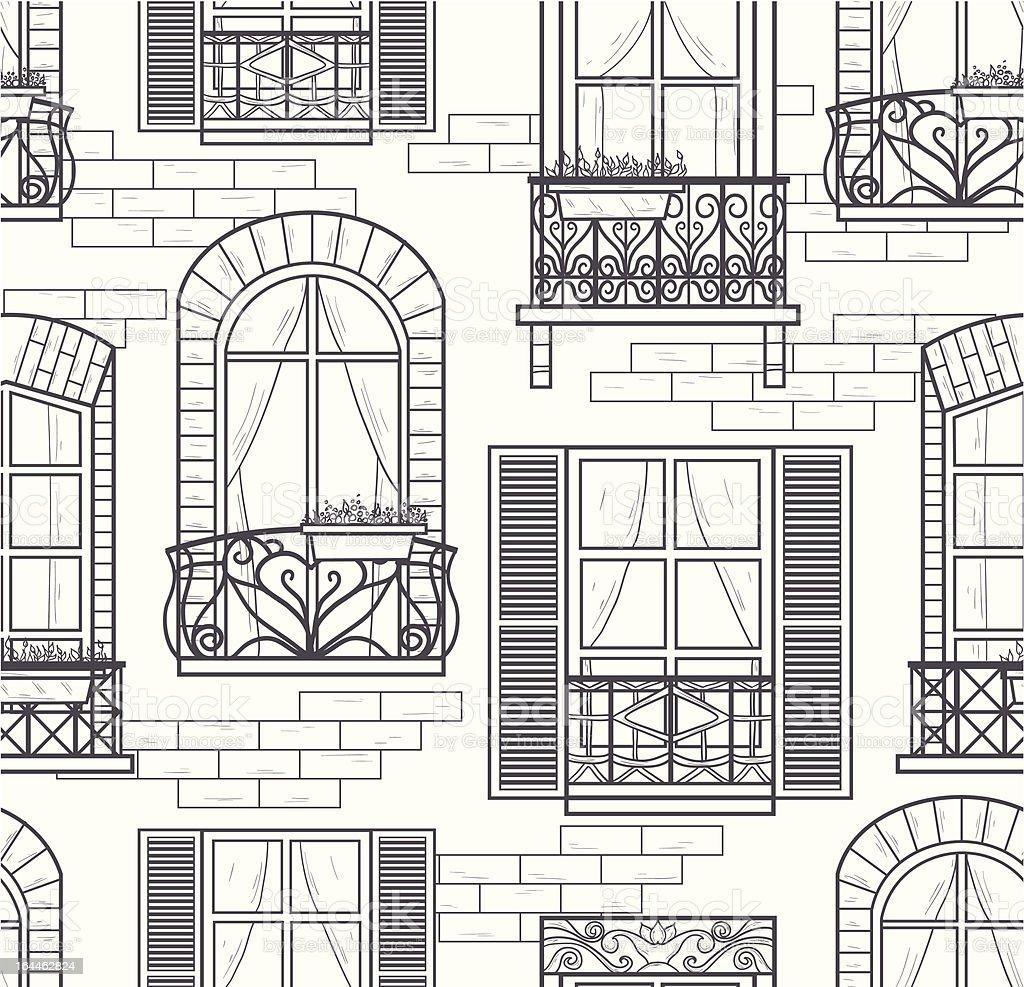 seamless windows  pattern vector art illustration