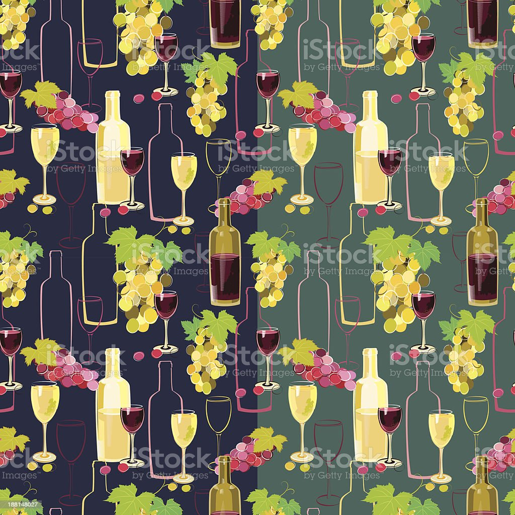 Seamless wine pattern royalty-free seamless wine pattern stock vector art & more images of alcohol