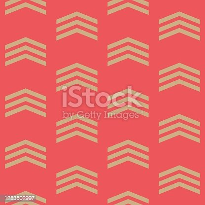 istock Seamless winter holidays geometric pattern. 1283502997