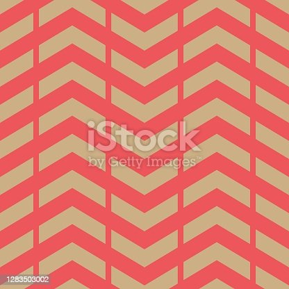istock Seamless winter holidays geometric pattern. 1283503002