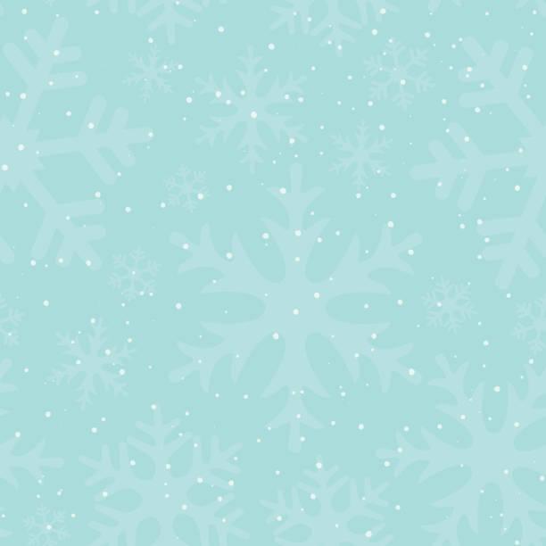 nahtlose winter muster mit schneeflocken und schneefall. neujahr und weihnachten verschneiten hintergrund. aneinander kulisse mit schneefall. vektor-illustration. - tapete stock-grafiken, -clipart, -cartoons und -symbole