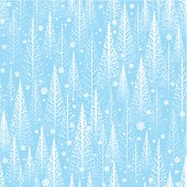 Seamless stylised winter trees background. Will tile endlessly.  EPS 10 file using transparencies.