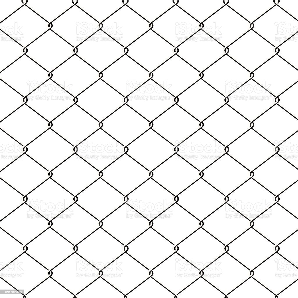 Seamless Wire Fence Stock Vector Art & More Images of Backgrounds ...