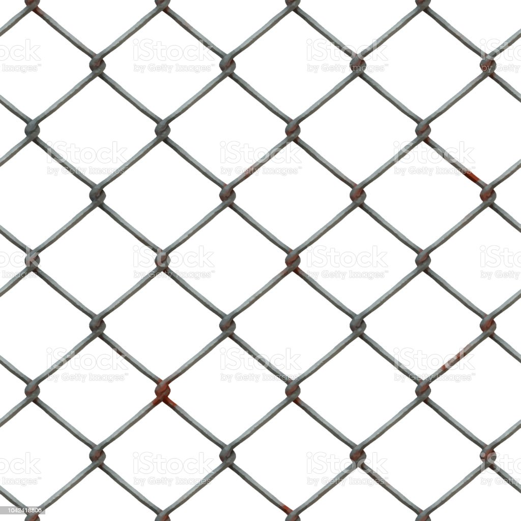 Seamless wire mesh isolated on transparante background vector art illustration
