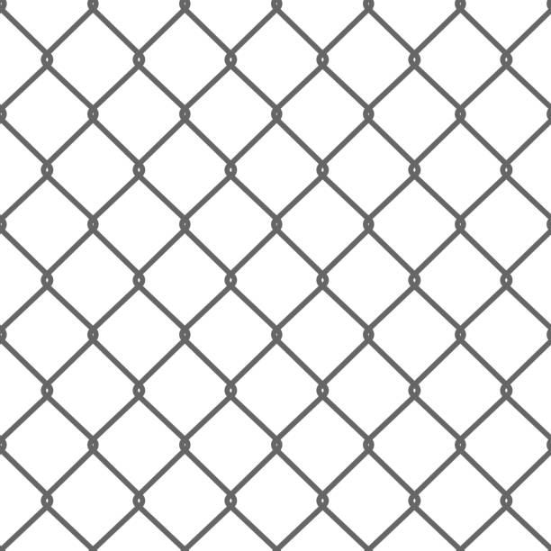 Royalty Free Wire Fence Clip Art, Vector Images & Illustrations - iStock