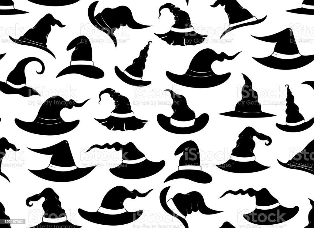 Ilustración de Sombreros De Brujas Sin Costura y más banco de ...