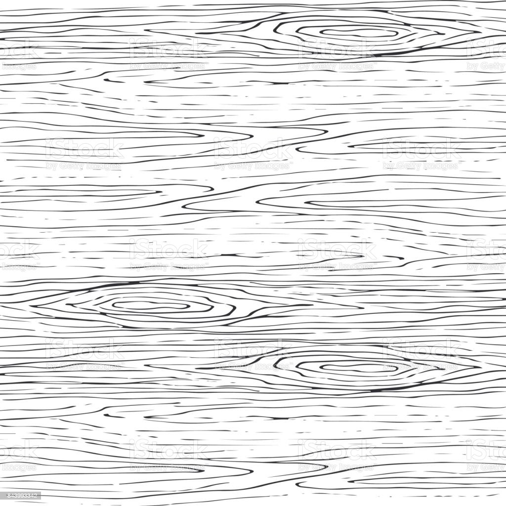 Seamless Wood Grain Gray Pattern Wooden Texture Vector Background