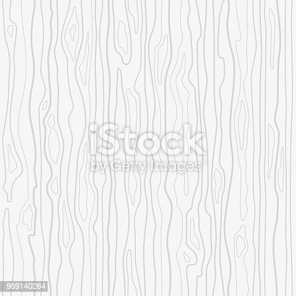 Stylized texture of wood surface, stripes pattern wood structure. Outline linear drawing, Vector seamless background.