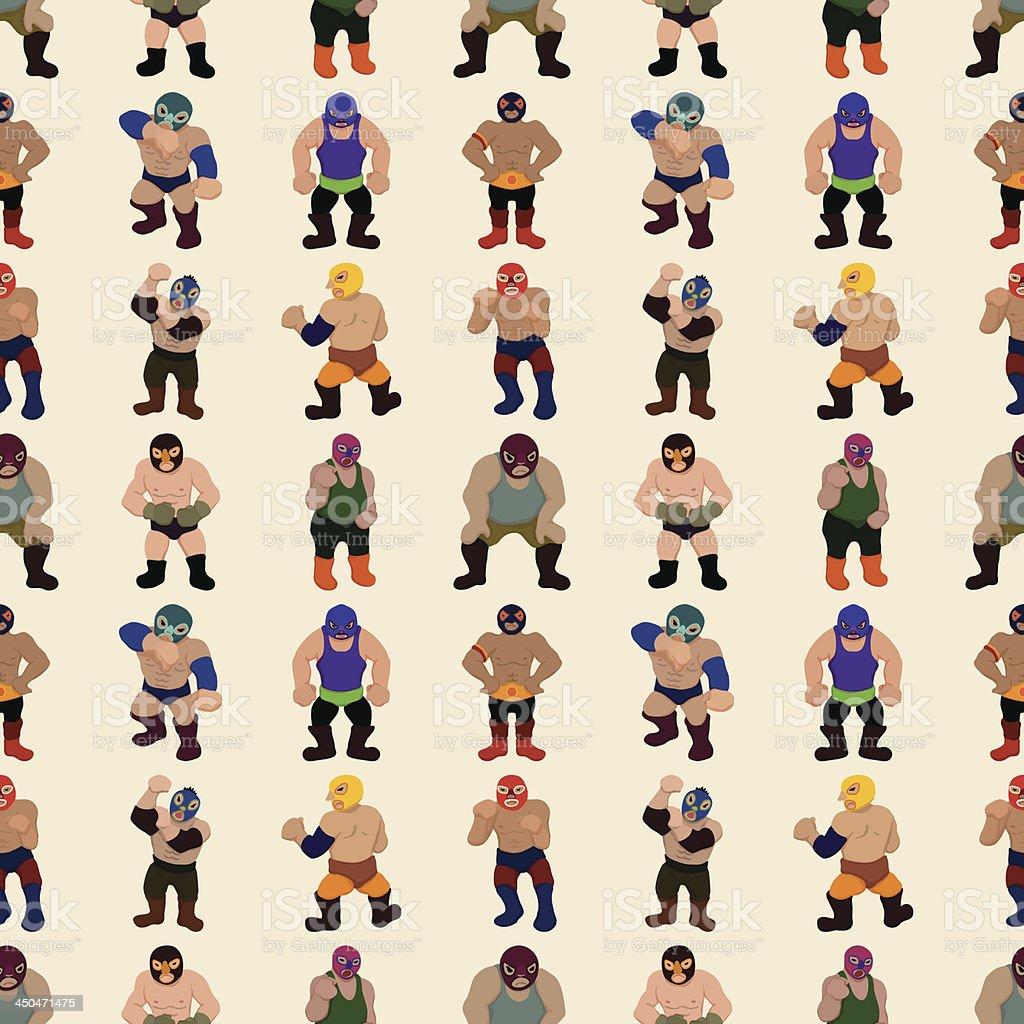 seamless Wrestling pattern royalty-free stock vector art