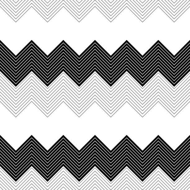 Nahtlose Zick-Zack-Muster – Vektorgrafik