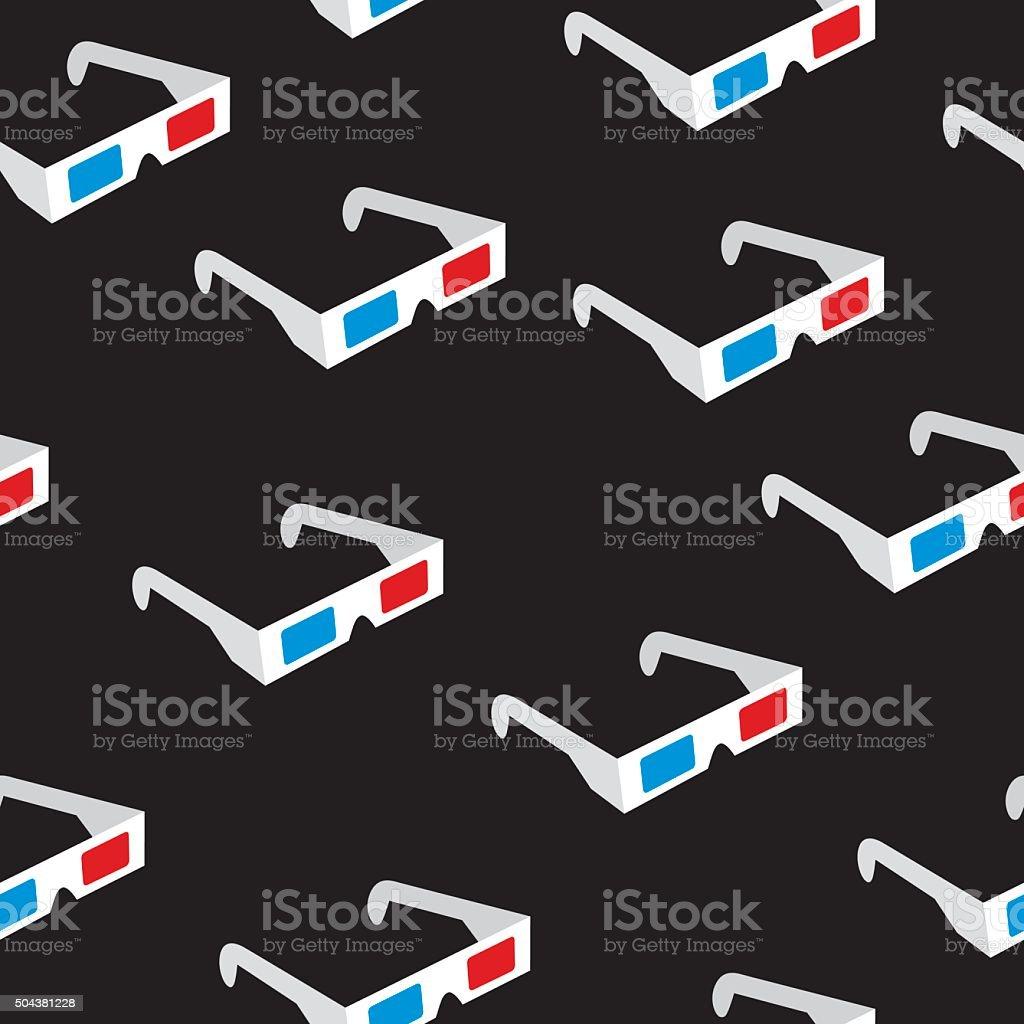 Seamless3DGlassesPattern – Vektorgrafik