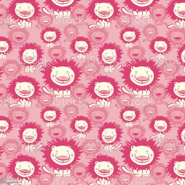 Seamless animal print lions pattern pink cream background vector id1166253265?b=1&k=6&m=1166253265&s=612x612&h=y nznwsgoix2k2jjinjmtfchq0srnrjxoycgvdqcsh0=