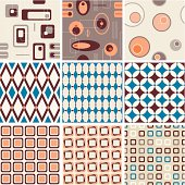 Seamless patterns. Saved in AI, EPS and JPG.