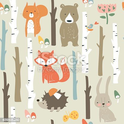istock seamlessbirchforestpopcolor 639505930