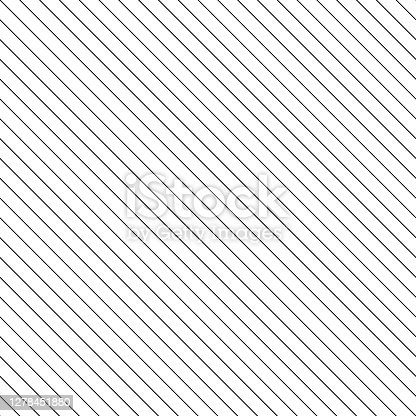istock Seamlessly repeatable abstract monochrome pattern with diagonal lines 1278451880