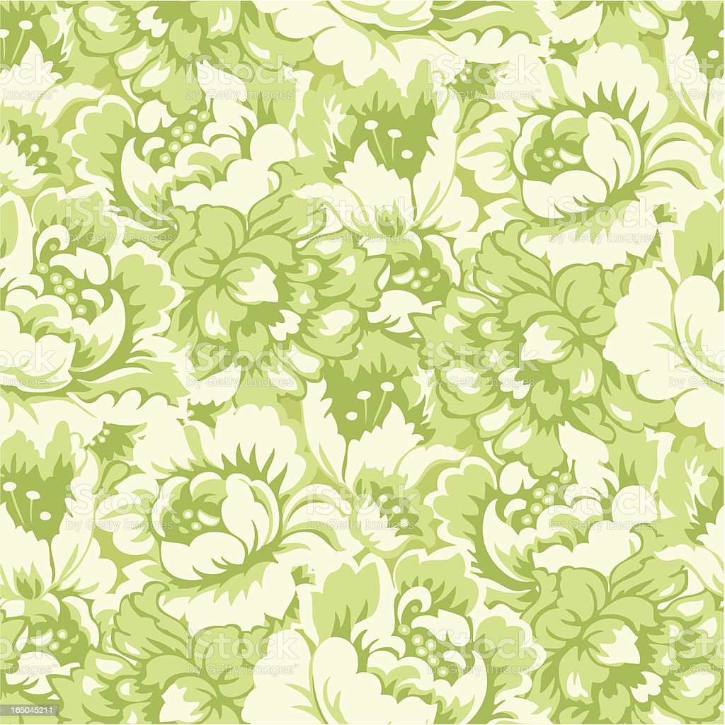 Seamlessly repeating floral pattern royalty-free stock vector art