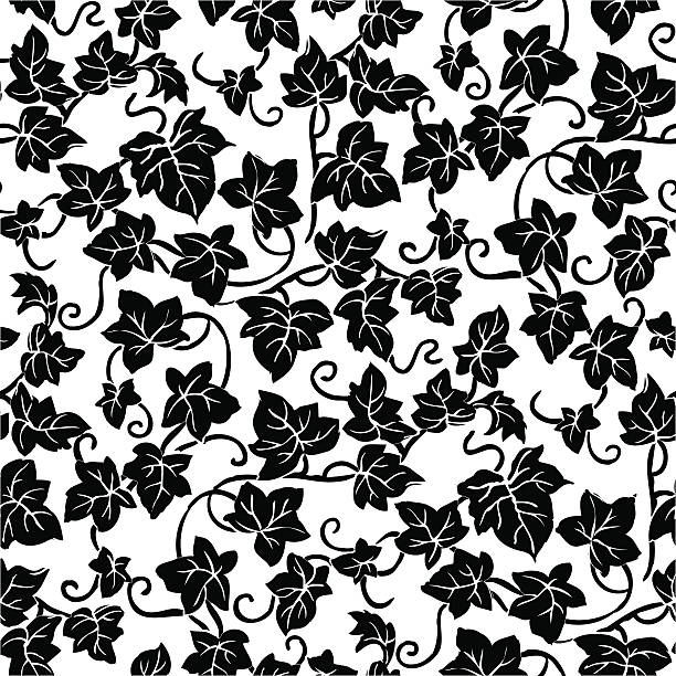 Seamlessly repeating vine pattern vector art illustration