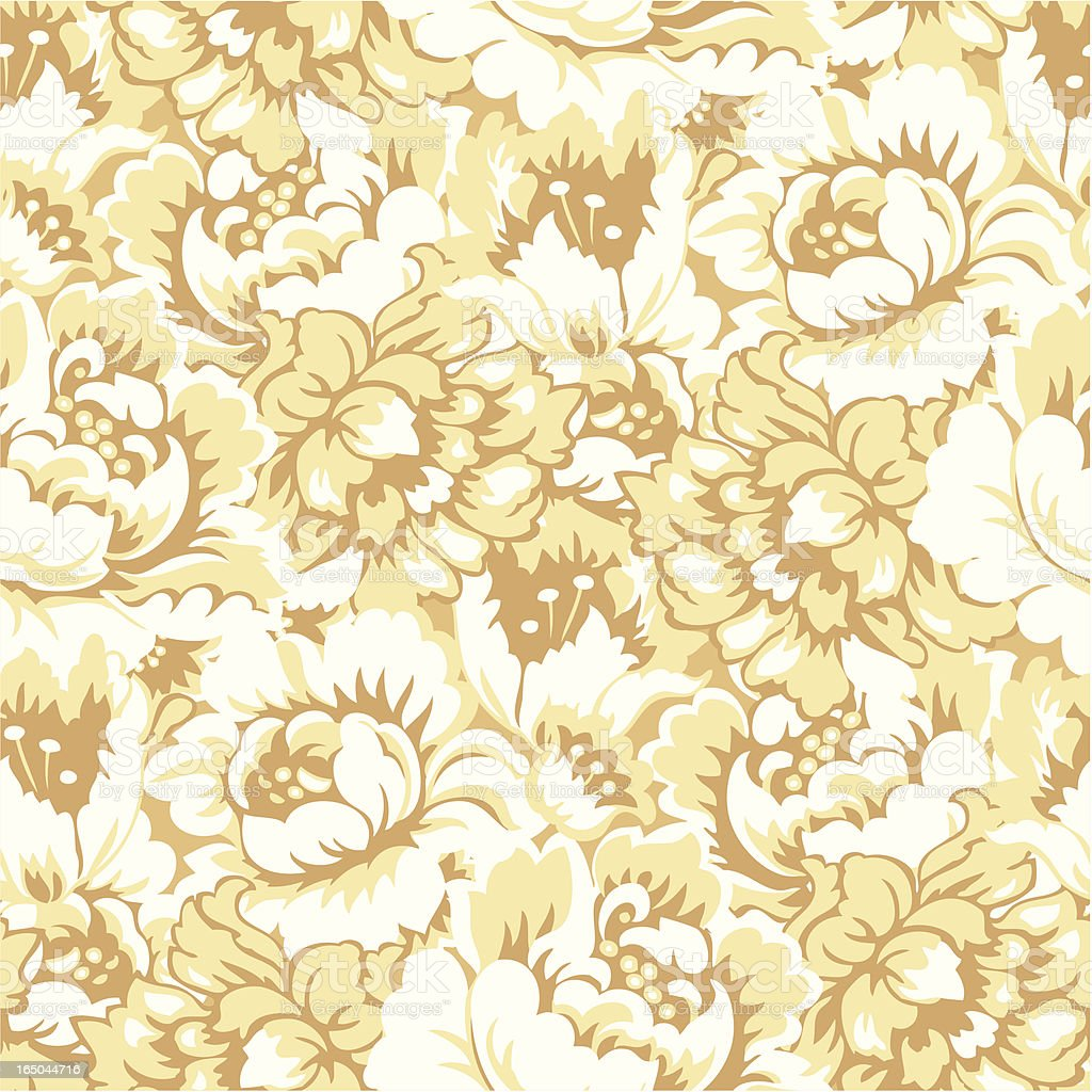 Seamlessly Repeating Yellow Flowers vector art illustration