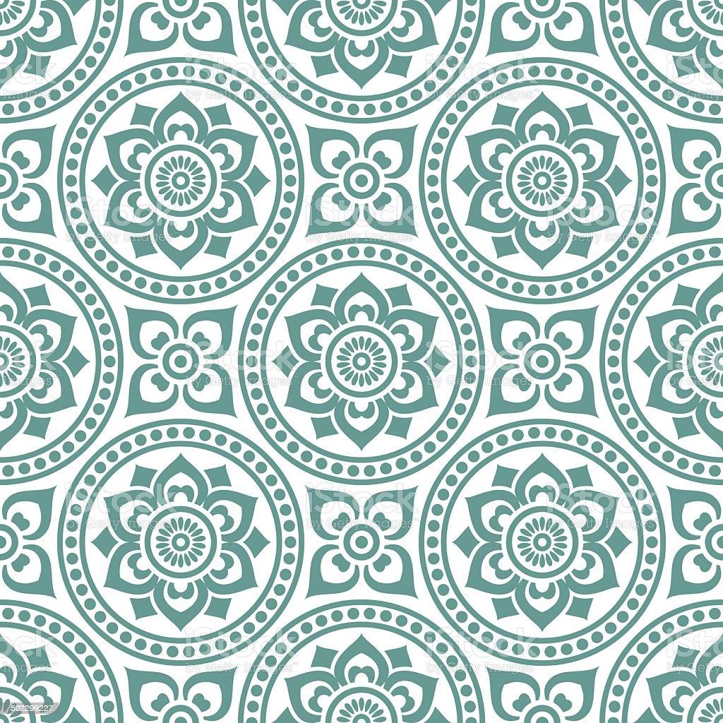 seamlessly vintage pattern vector art illustration
