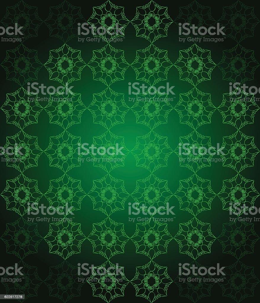 シームレスな壁紙ダークグリーン色の色調でまとめております イラストレーションのベクターアート素材や画像を多数ご用意 Istock