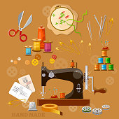 Seamstress and tailor sewing machine tools for scrapbooking