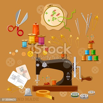 Seamstress and tailor sewing machine tools for for Arts and crafts sewing machine
