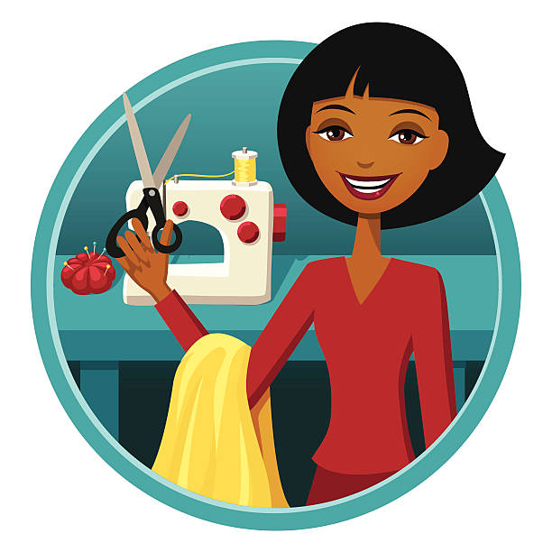151 Tailor Sewing Sewing Machine Cartoon Illustrations, Royalty-Free Vector  Graphics & Clip Art - iStock