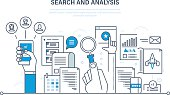 Search and analysis of information, communication, services, marketing  research.