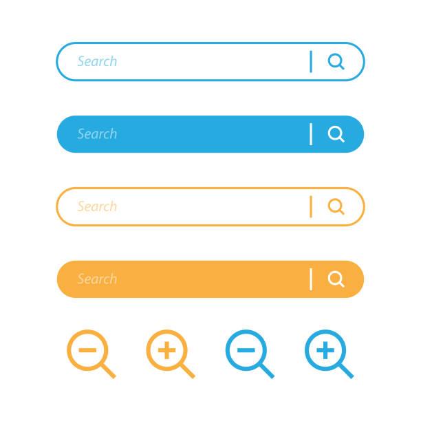 suche bar und lupe nissenbild-symbol-design. - sucht stock-grafiken, -clipart, -cartoons und -symbole