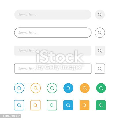 Search Bar and Magnifying Glass Vector Design. Vector Illustration EPS 10 File.
