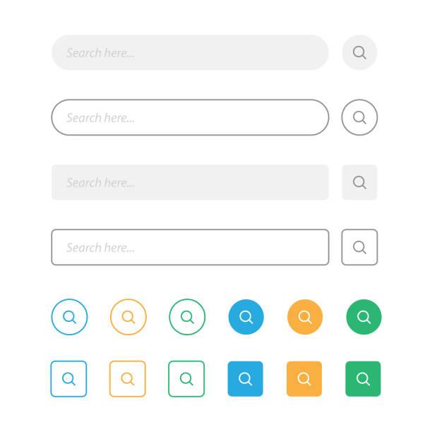 suche bar und lupe vektor-design. - sucht stock-grafiken, -clipart, -cartoons und -symbole