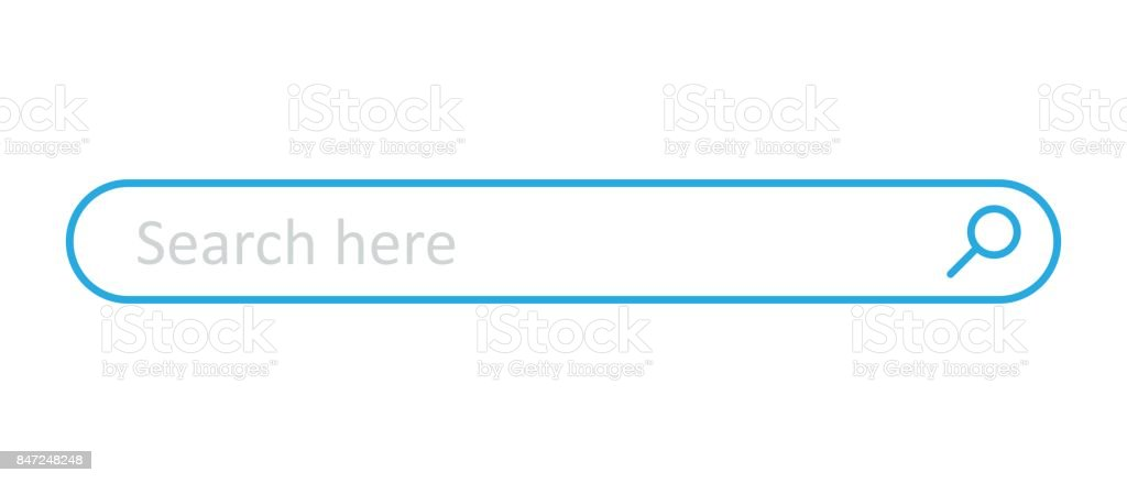 Search bar field. Vector interface element with search button. Flat vector illustration on white background. royalty-free search bar field vector interface element with search button flat vector illustration on white background stock illustration - download image now