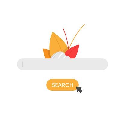 Search Bar Icon Vector Design.