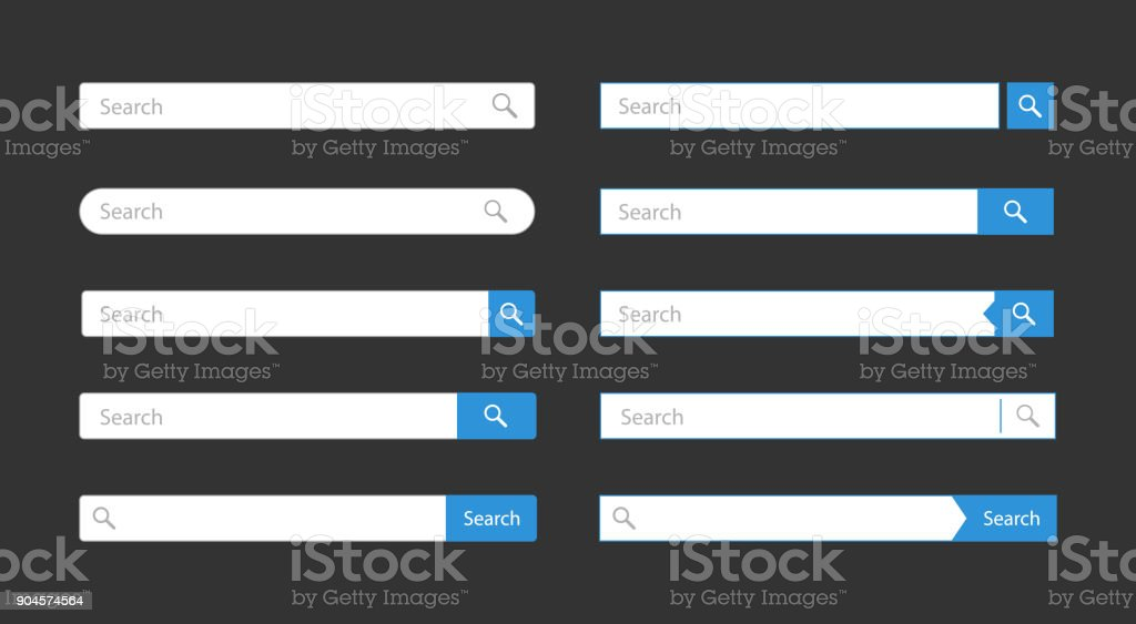 Search bar template - Grafika wektorowa royalty-free (Aplikacja mobilna)