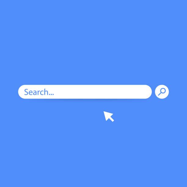 suche bar vektorelement designvorlage, suche boxen ui auf blauem hintergrund isoliert. vektor-illustration. - sucht stock-grafiken, -clipart, -cartoons und -symbole