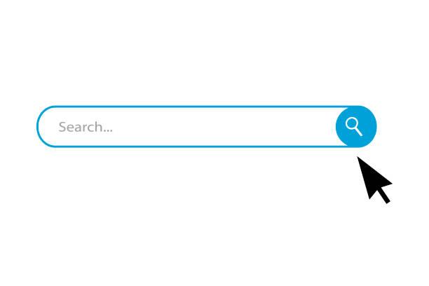 search bar vector icons - искать stock illustrations