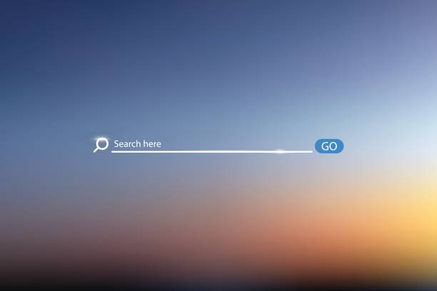 search bar vector illustration on background of sky , simple search box field ui element - искать stock illustrations