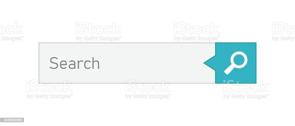 Search bar vector ui element icon in flat style. Search website form illustration field. Find search business concept.