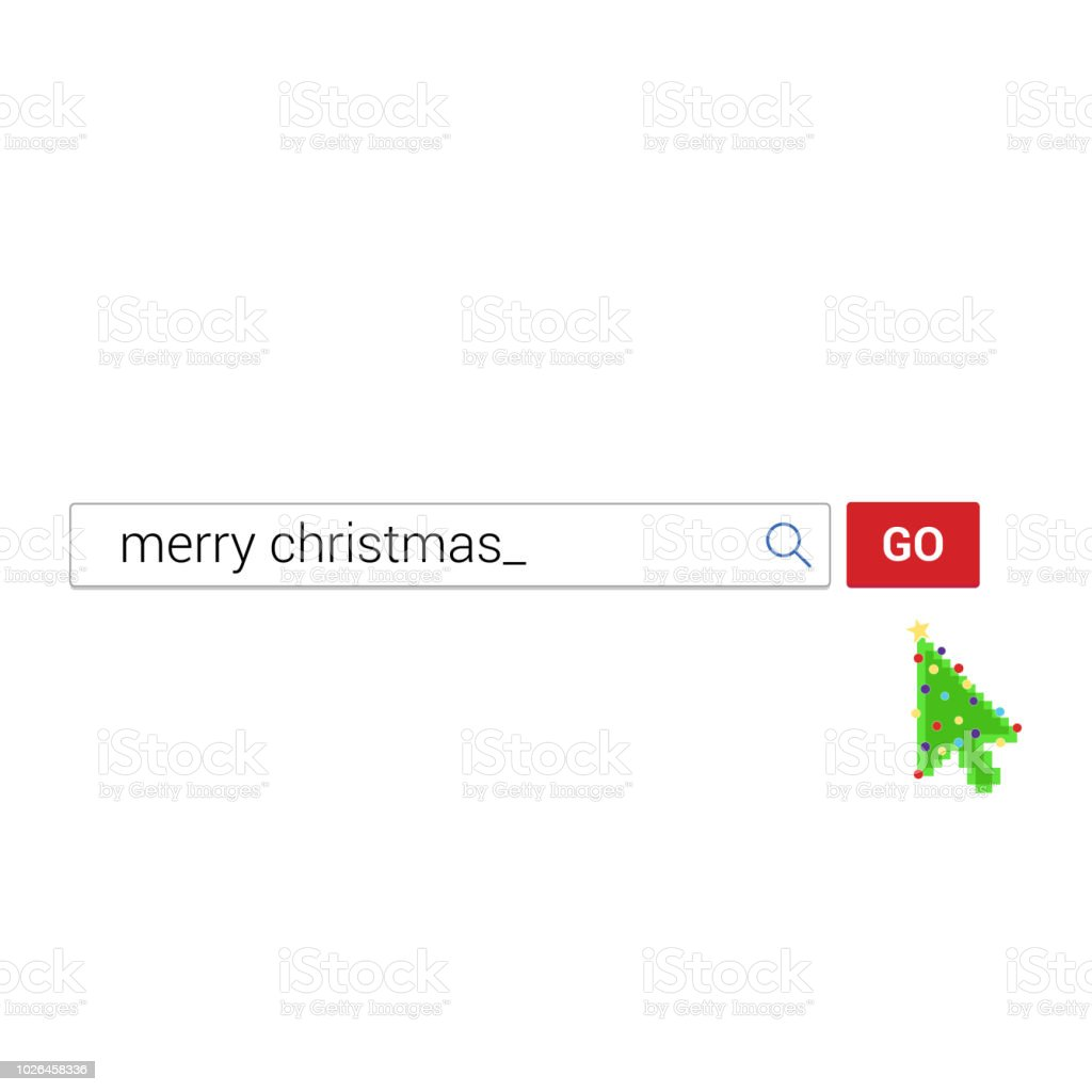 Christmas Arrow.Search Bar With Text Merry Christmas And Button Go With