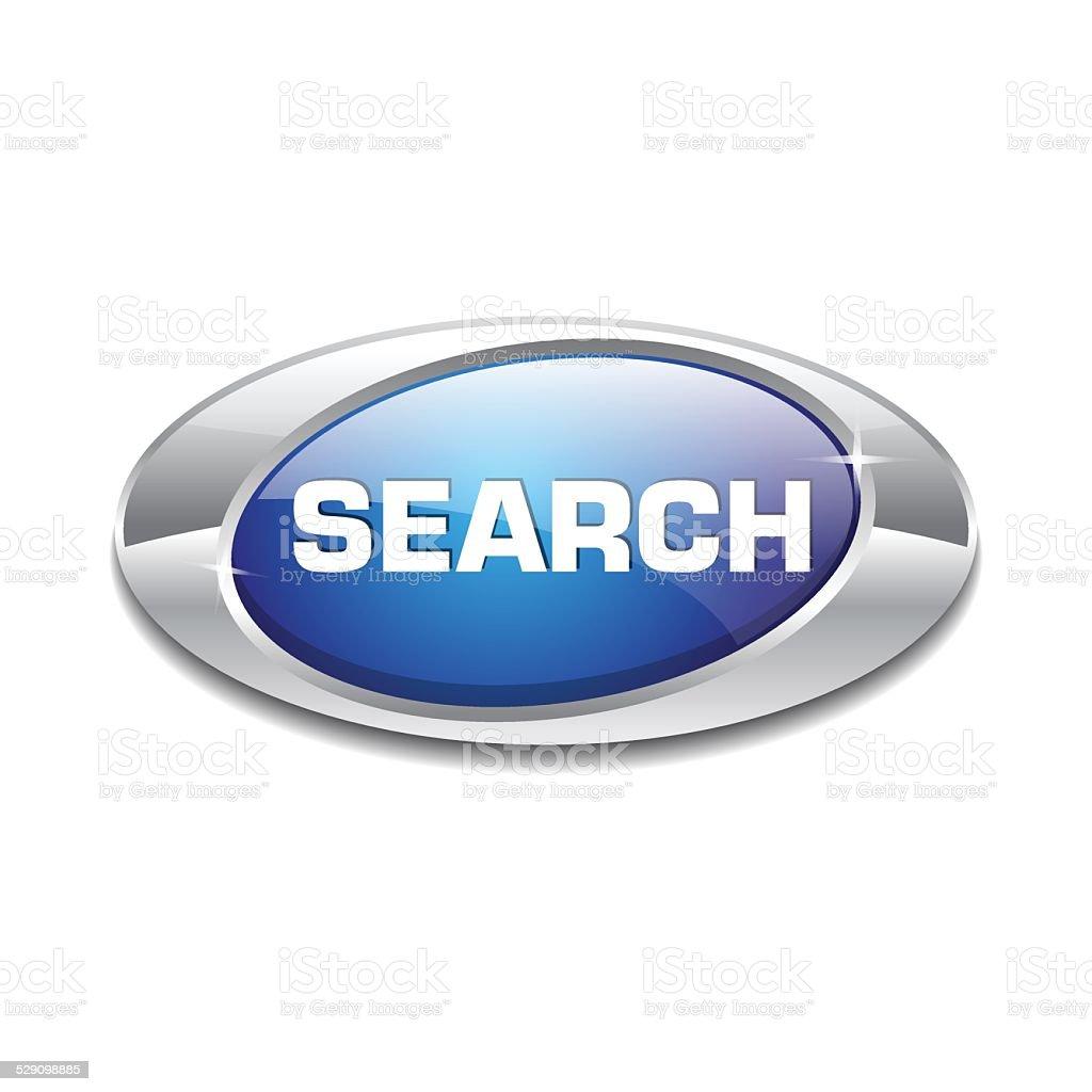 Search Blue Vector Icon Button vector art illustration