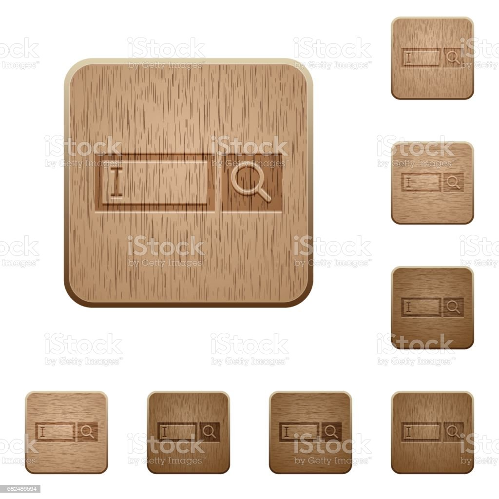Search box wooden buttons royalty-free search box wooden buttons stock vector art & more images of applying