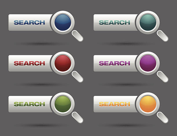 ilustrações de stock, clip art, desenhos animados e ícones de pesquisar botões de - going inside eye