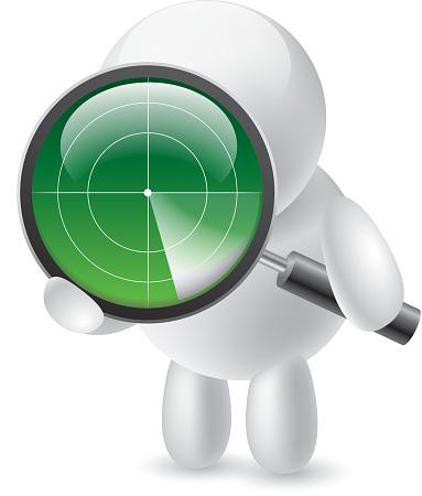 Search by radar